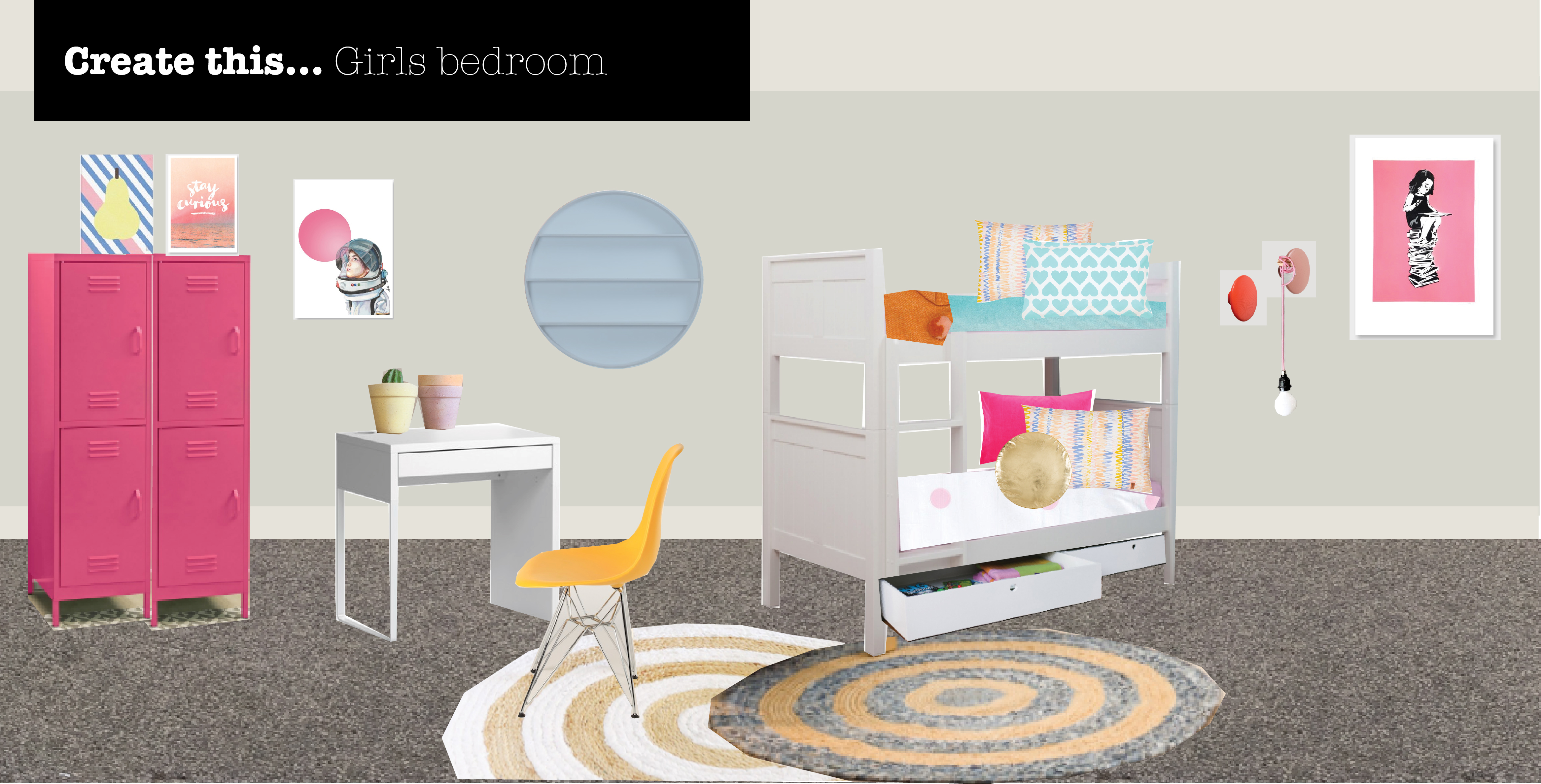 interior design for a girls bedroom
