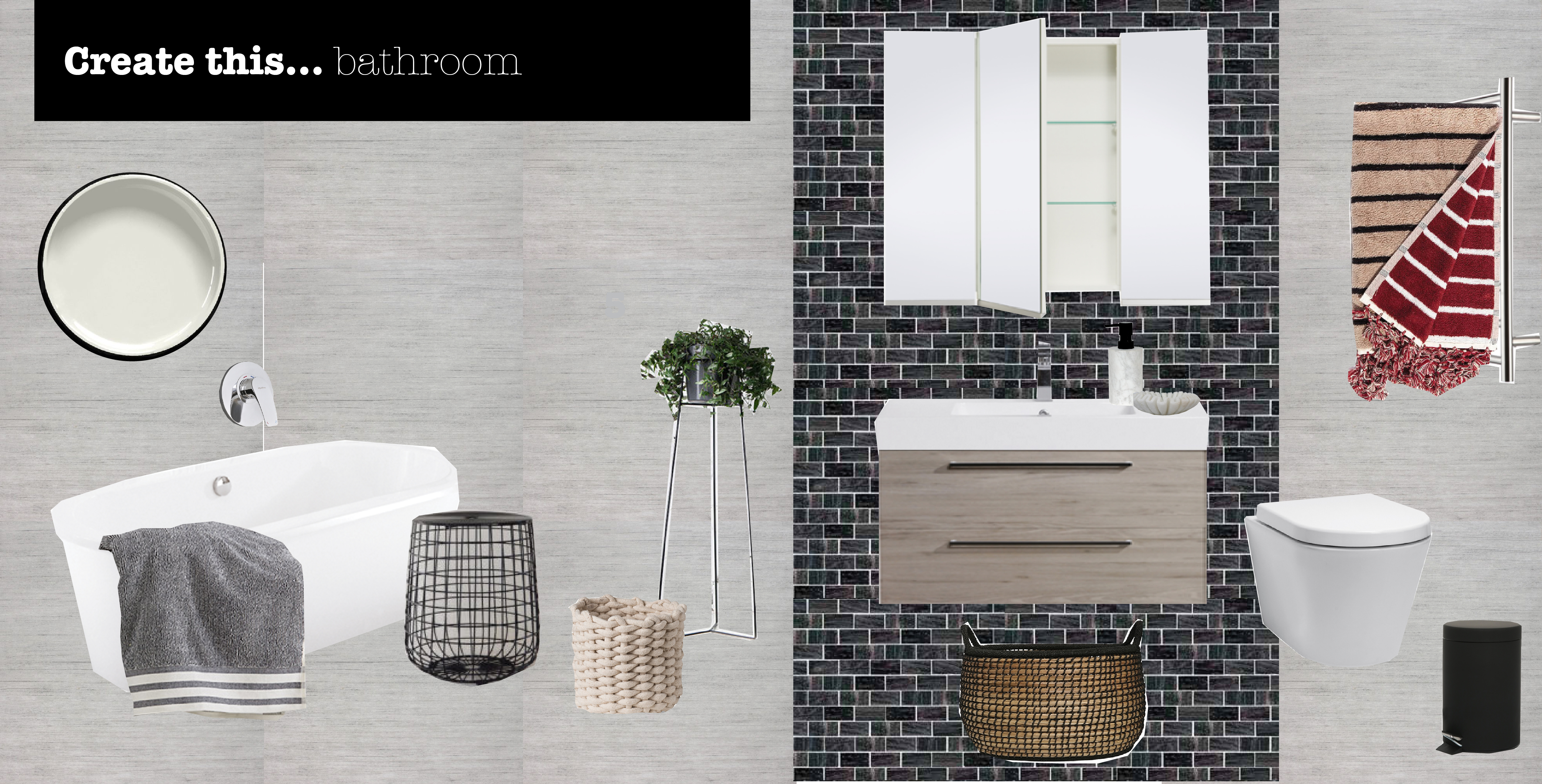 create this bathroom